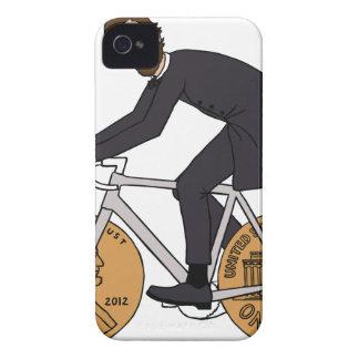 Abraham Lincoln auf einem Fahrrad mit Penny dreht iPhone 4 Cover