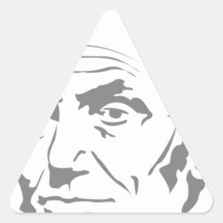Abraham Lincoln Dreieckiger Aufkleber