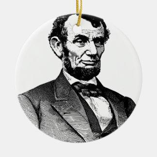 Abraham Lincoln Keramik Ornament