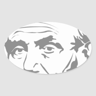 Abraham Lincoln Ovaler Aufkleber