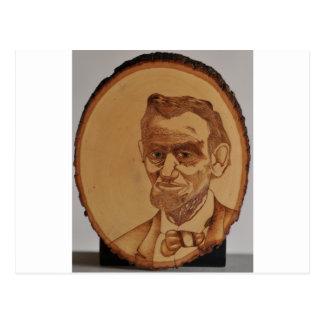Abraham Lincoln-Porträt Postkarte