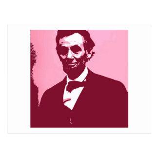 Abraham Lincoln Postkarte