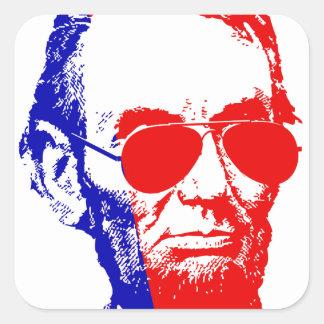 Abraham Lincoln Quadratischer Aufkleber