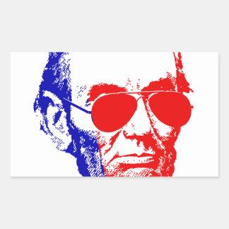 Abraham Lincoln Rechteckiger Aufkleber
