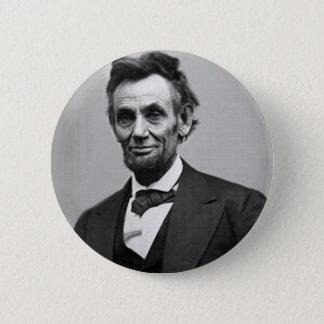 Abraham Lincoln Runder Button 5,7 Cm