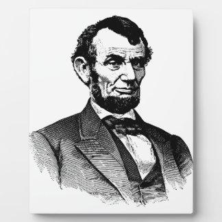 Abraham Lincoln - Schwarzweiss-zeichnen Fotoplatte