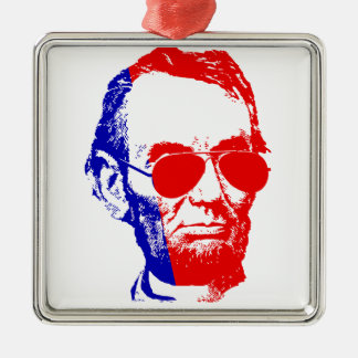 Abraham Lincoln Silbernes Ornament