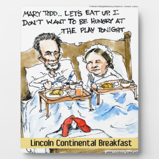 Abraham Lincoln u. Frühstück Marys Todd im Bett Fotoplatte