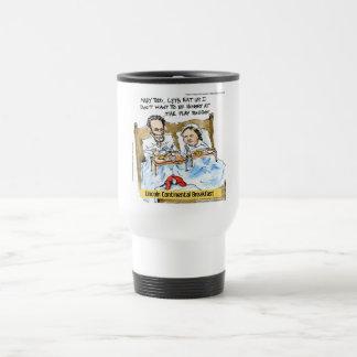 Abraham Lincoln u. Frühstück Marys Todd im Bett Reisebecher