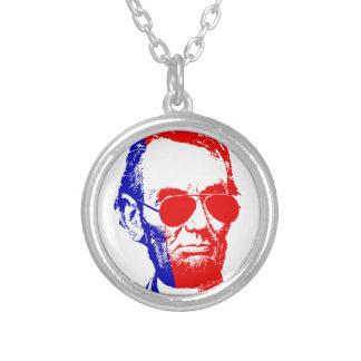 Abraham Lincoln Versilberte Kette