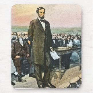 Abraham Lincoln vorträgt die Gettysburg-Adresse Mauspad