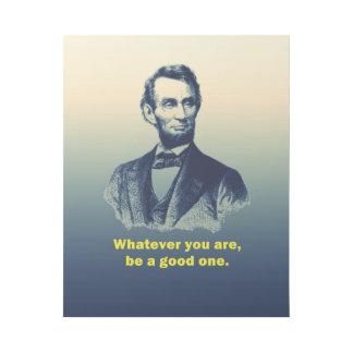 Abraham Lincoln-Zitat Galerieleinwand