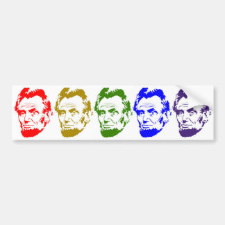 Abraham LincolnmehrfarbenPop-Kunst-Art-Porträt Autoaufkleber