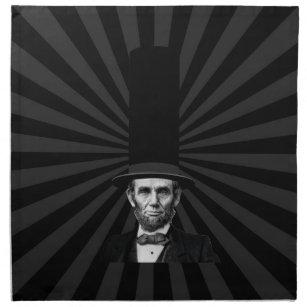 Abraham Lincolnpräsidentenmode-Aussage Serviette