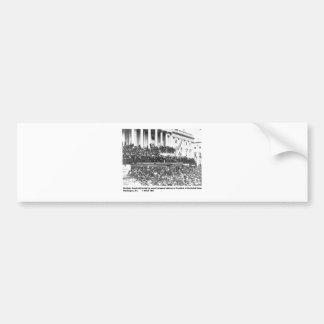 Abraham Lincolns Antrittsrede Washingto an zweiter Autoaufkleber