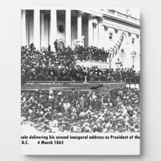 Abraham Lincolns Antrittsrede Washingto an zweiter Fotoplatte