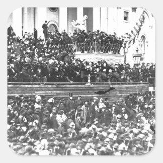 Abraham Lincolns Antrittsrede Washingto an zweiter Quadratischer Aufkleber