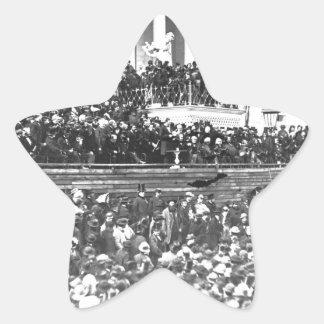 Abraham Lincolns Antrittsrede Washingto an zweiter Stern-Aufkleber