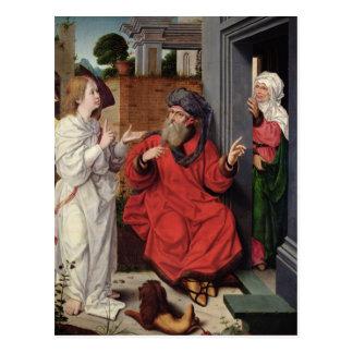 Abraham, Sara und ein Engel, c.1520 Postkarte