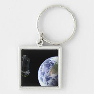 Abreisendes Spitzer die Erde bald nach Schlüsselanhänger