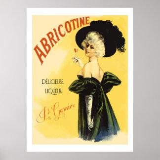 Abricotine (wieder hergestellte Vintage französisc Poster