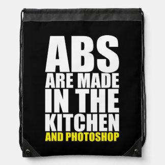 ABS werden in der Küche und im Photoshop gemacht Sportbeutel
