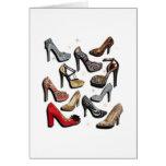 Absatz-Schuh-Collagen-Schein-Mode-Pumpen Grußkarten