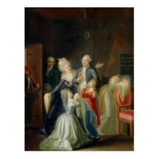 Abschied zu Louis XVI durch seine Familie Postkarte