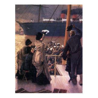 Abschied zum Mersey durch James Tissot Postkarte