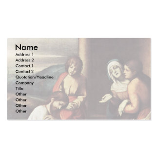 Abschiedschristus mit Mary Mary und Martha Visitenkartenvorlage