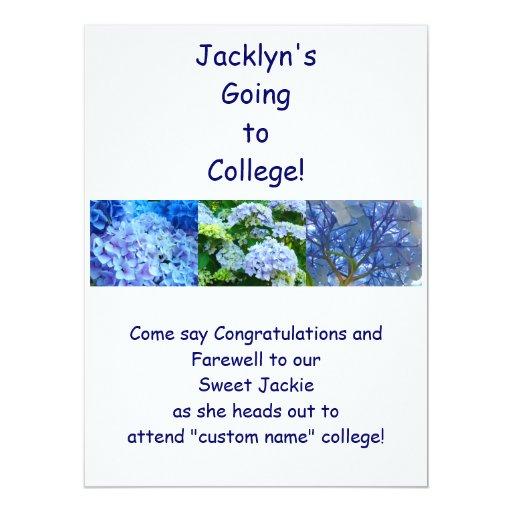 AbschiedsParty Einladungs-BlauHydrangeas 16,5 X 22,2 Cm Einladungskarte | Zazzle
