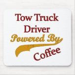Abschleppwagen-Fahrer angetrieben durch Kaffee Mauspad