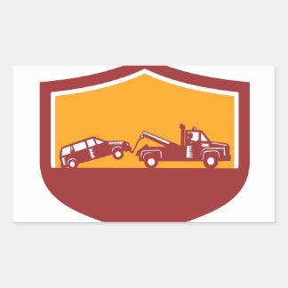 Abschleppwagen-Schleppen-Auto-Schild Retro Rechteckiger Aufkleber