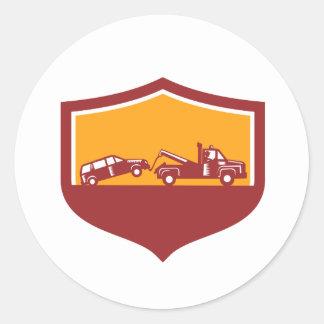 Abschleppwagen-Schleppen-Auto-Schild Retro Runder Aufkleber
