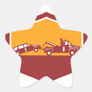 Abschleppwagen-Schleppen-Auto-Schild Retro Stern-Aufkleber