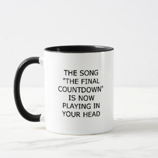 abschließender Count-down des Liedes, der jetzt Tasse