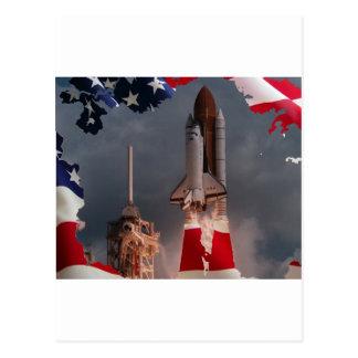 Abschließender Raumtransporterflug Postkarte