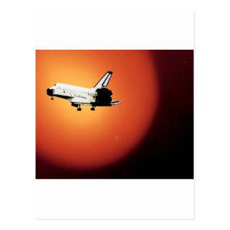 Abschließendes die Flug-NASA-Raumfähre-Programm Postkarte