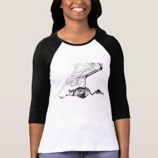 Abschließendes Flug-Kleid T-Shirt