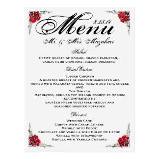 ABSCHLIESSENDES Hochzeits-Abendessen-Menü Shalicia Postkarten