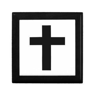 abschließendes schwarzes Kreuz Geschenkbox