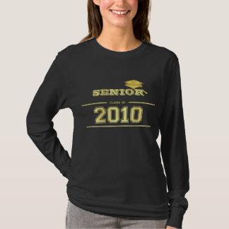 Abschluss 2010 - Schwarzes und Golddamen-T - Shirt
