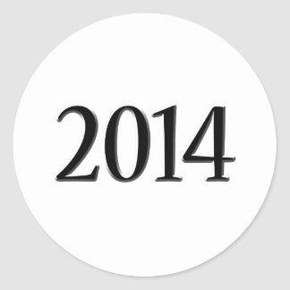 Abschluss 2014 schwarzer 3D Runder Aufkleber