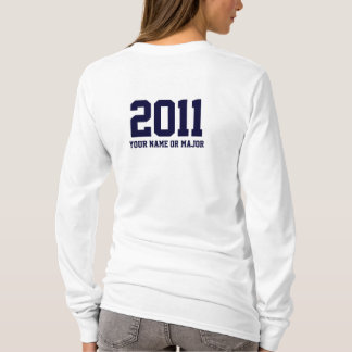 Abschluss angepasster Hoodiename oder -major T-Shirt