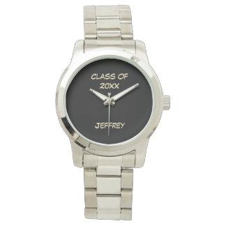 Abschluss-Armbanduhr, Klasse von, silberne Farbe Armbanduhr