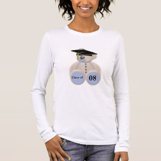 Abschluss-Bär Klasse von 2008 Langarm T-Shirt