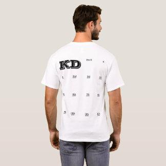 Abschluss des Schuljahres des Handprint T-Shirt