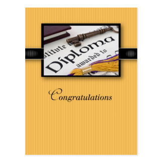 Abschluss-Diplom-Glückwünsche Postkarte