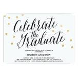 Abschluss-Einladung des Confetti-Absolvent-|
