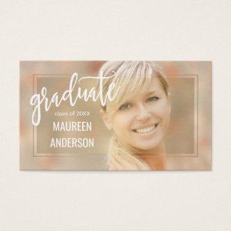 Abschluss-Foto-Namenskarten-handgeschriebenes Visitenkarte
